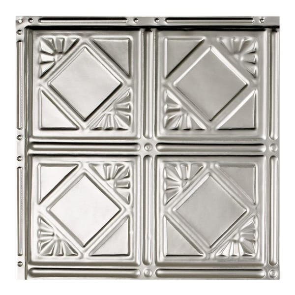 Great Lakes Tin Ludington Clear 2 Foot X 2 Foot Nail Up Ceiling Tile Carton Of 5 Overstock 10673378 Sample