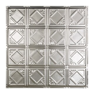 Great Lakes Tin Ludington Clear 2-foot x 2-foot Nail-Up Ceiling Tile (Carton of 5)