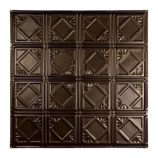 Great Lakes Tin Ludington Bronze Burst 2-foot x 2-foot Nail-Up Ceiling Tile (Carton of 5)