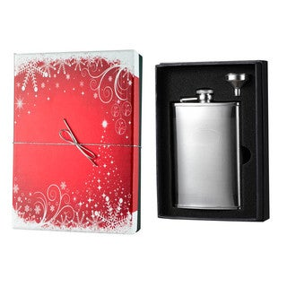 Visol Mark Knit Design Holiday Essential II Liquor Flask Gift Set - 8 ounces