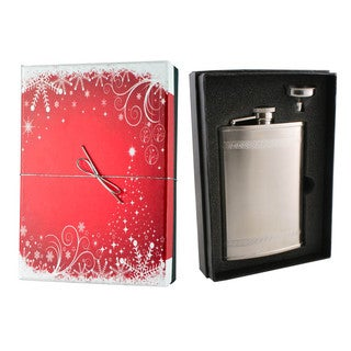 Visol Athens Greek Bands Holiday Essential II Liquor Flask Gift Set - 8 ounces