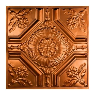 Great Lakes Tin Rochester Copper 2-foot x 2-foot Lay-In Ceiling Tile (Carton of 5)