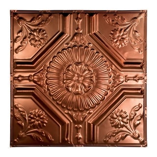 Great Lakes Tin Rochester Vintage Bronze 2-foot x 2-foot Nail-Up Ceiling Tile (Carton of 5)