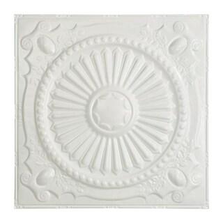 Great Lakes Tin Toronto Matte White 2-foot x 2-foot Nail-Up Ceiling Tile (Carton of 5)