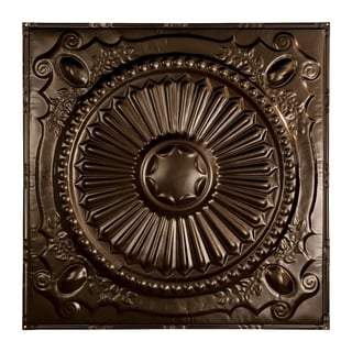 Great Lakes Tin Toronto Bronze Burst 2-foot x 2-foot Nail-Up Ceiling Tile (Carton of 5)