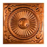 Great Lakes Tin Toronto Copper 2-foot x 2-foot Lay-In Ceiling Tile (Carton of 5)