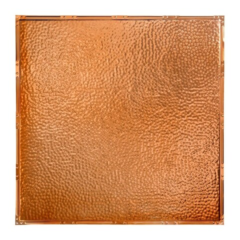 Great Lakes Tin Chicago Copper 2-foot x 2-foot Nail-Up Ceiling Tile (Carton of 5)