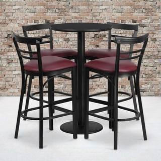 24-inch Black Laminate Table Set