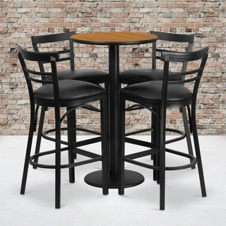 24-inch Round Natural Laminate Table Set