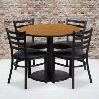 36-inch Round Natural Laminate Table Set