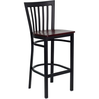 Hercules Series Black School House Back Bar Stool