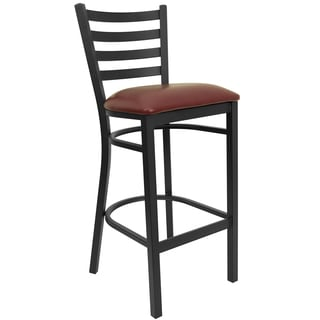 Hercules Series Upholstered Ladder Back Bar Stool