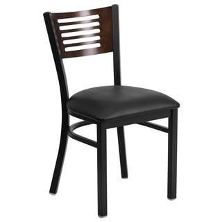 Hercules Series Decorative Slat Back Chair