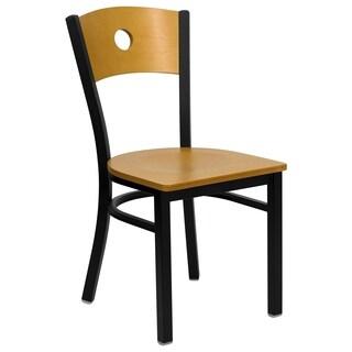 Hercules Series Black Circle Back Chair