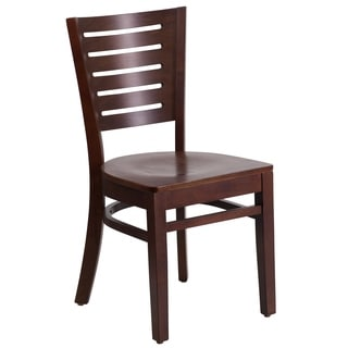 Darby Series Slat Back Wooden Chair with Cushion