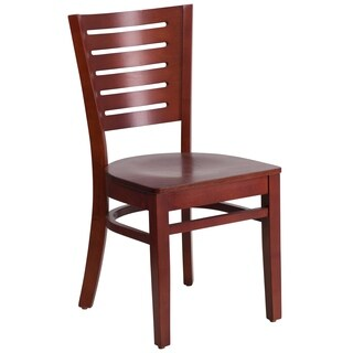 Darby Series Slat Back Mahogany Chair