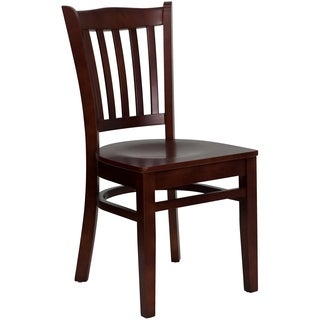 Hercules Series Mahogany Finished Wooden Chair