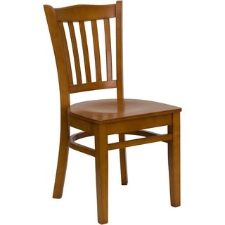 Hercules Series Vertical Slat Back Restaurant Chair