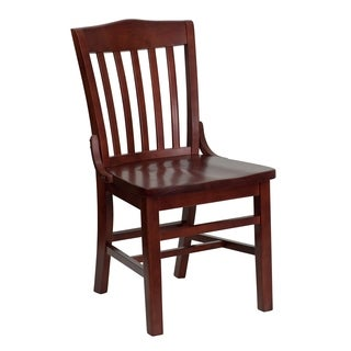 Hercules Series Mahogany Finished School House Back Chair
