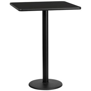 30-inch Square Laminate Table Top with Base