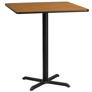 36-inch Square Laminate Table Top with Bar Height Table Base