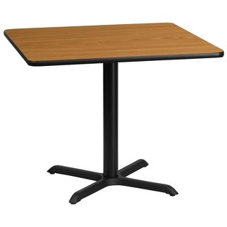 36-inch Square Laminate Table Top with Table Height Base