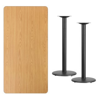 30x60-inch Rectangular Laminate Table Top with Table Base