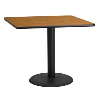 36-inch Square Laminate Table Top with Base