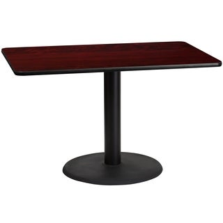 30x48-inch Rectangular Laminate Table Top and Base