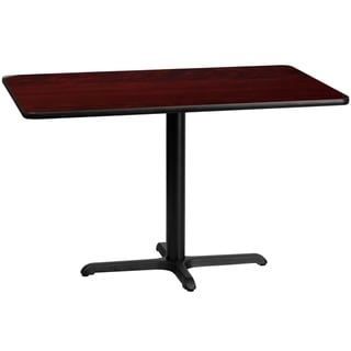 """30'' x 48'' Rectangular Laminate Table Top with 22'' x 30'' Table Height Base - 30""""W x 48""""D x 31.125""""H"""