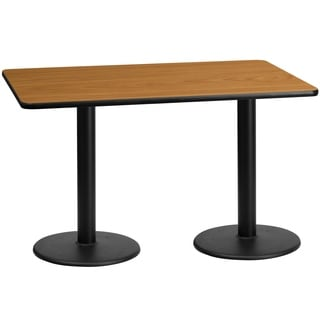 30x60-inch Rectangular Laminate Table Top with Table Height Bases