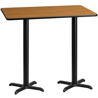 30x60-inch Rectangular Laminate Table Top with 22x22-inch Bar Height Table Bases