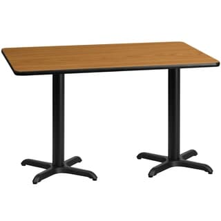 30x60-inch Rectangular Laminate Table Top with Base
