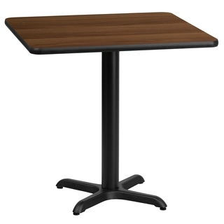 24-inch Square Laminate Table Top with Base