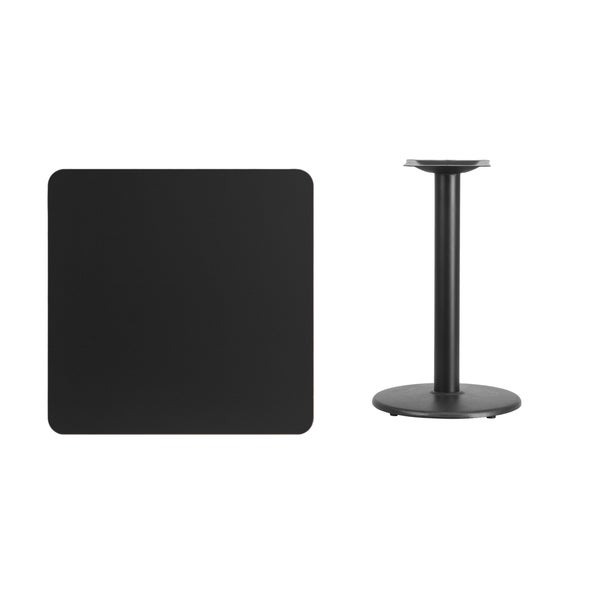 30 inch square laminate table top with 18 inch round table for 12 inch square table