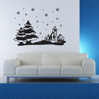 Winter Snowscape Christmas Wall Decal