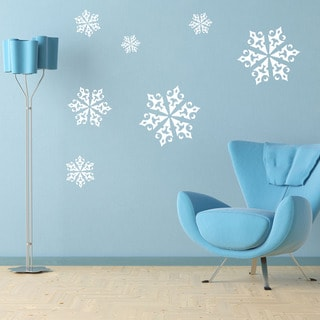 Ice Crystals Christmas Wall Decal