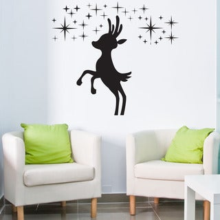 Reindeer II Christmas Wall Decal