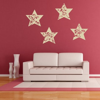 Star Ornaments II Christmas Wall Decal