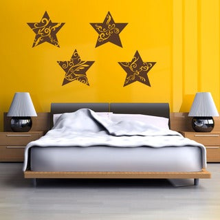 Star Ornaments Christmas Wall Decal