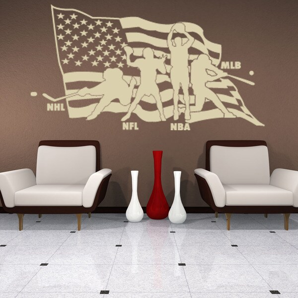 American Sports Sport Wall Decal