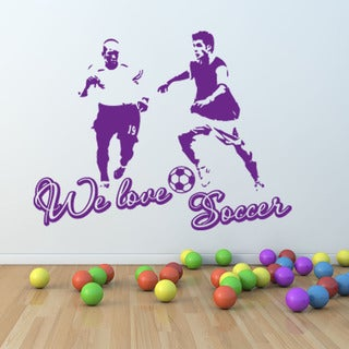 We Love Soccer Sport Wall Decal