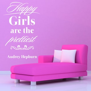 Happy Girls Quote Phrases Wall Decal