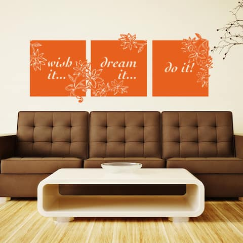 Wish It Dream It Do It Quote Phrases Wall Decal