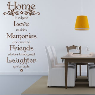 Home Quote Phrases Wall Decal