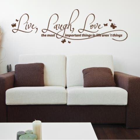 Live, Laugh, Love Quote Phrases Wall Decal