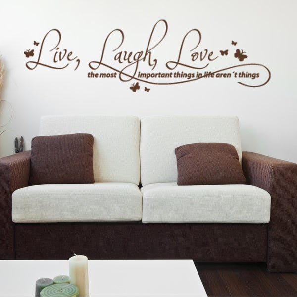 Live Laugh Love Quote Phrases Wall Decal On Free Shipping Today 10673730