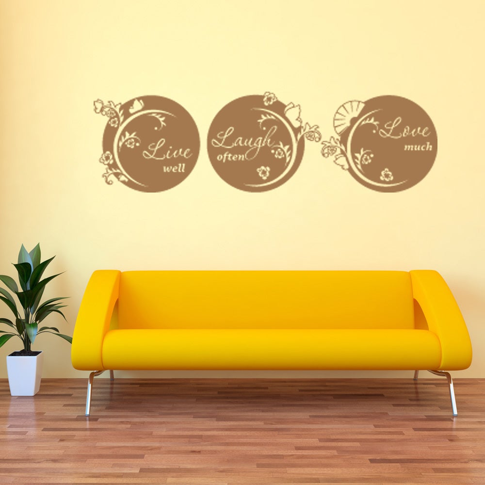 Live, Laugh, Love Quote Phrases Wall Decal | eBay