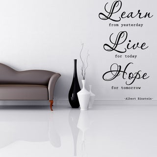 Learn, Live, Hope Quote Phrases Wall Decal