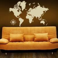 Detailed World Map Vinyl Wall Art